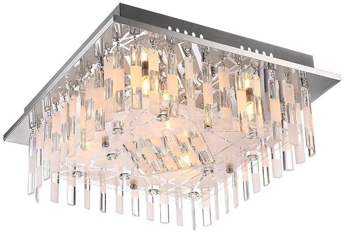 Plafoniere Quadrate Soffitto : Plafoniera led da soffitto illuminazione a colori saxobuy quadrato