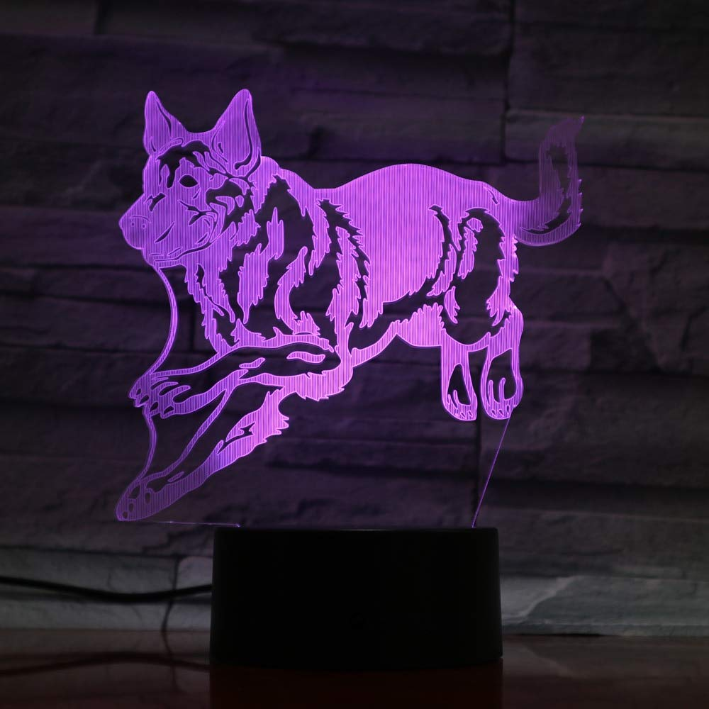 KAIYED Lámpara De Mesa 3D Wolf Colores Intercambiables Led ...