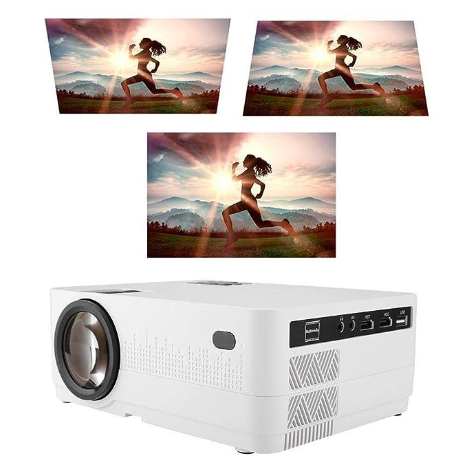 Oumij Proyector de Cine en Casa HQ4 80W 5000 Lúmenes Proyector ...