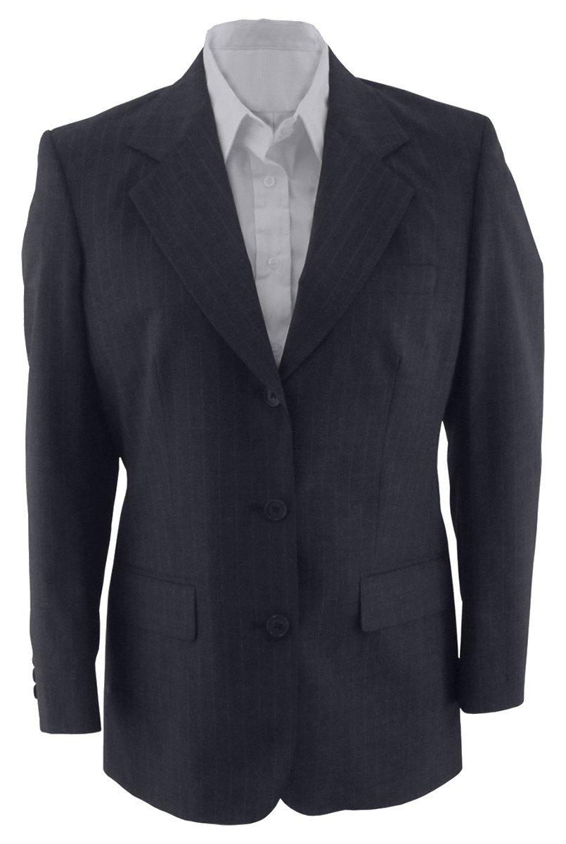 Edwards ED Garments Women's Fully Lined Pinstripe Suit Coat, Navy, 24 Regular