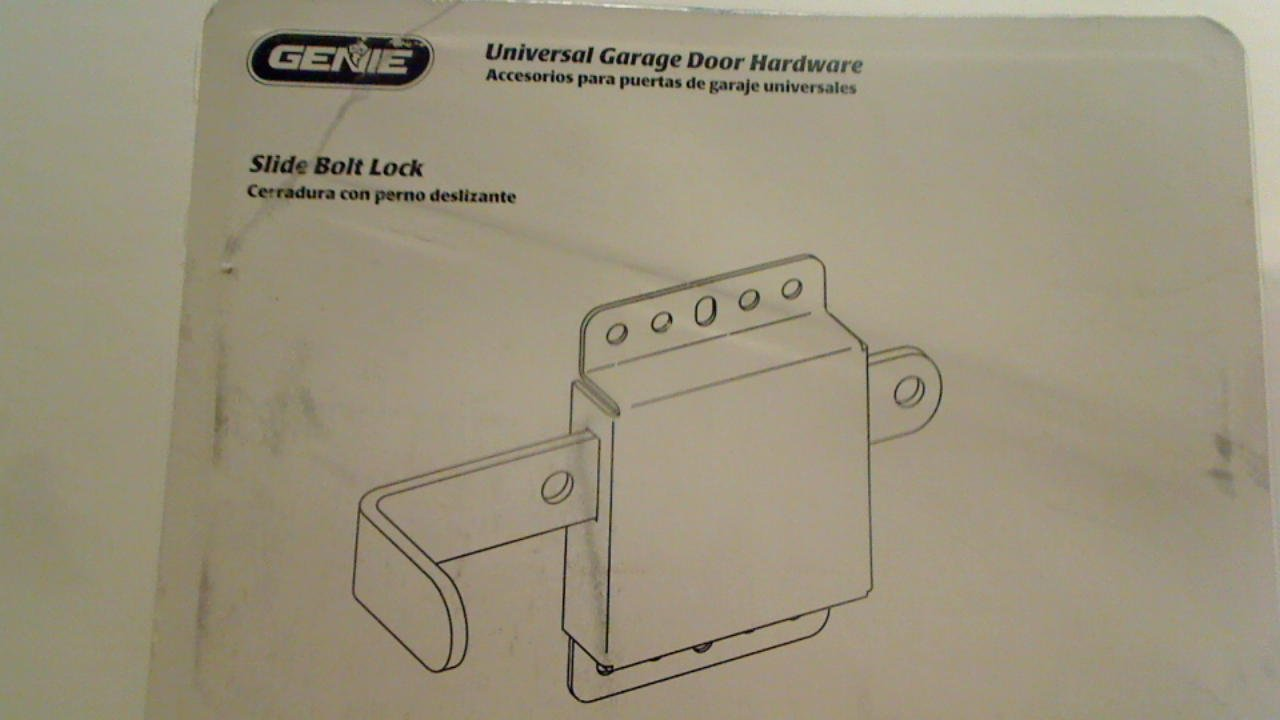 GENIE, SLIDE BOLT LOCK . COMPATIBLE WITH MOST SECTIONAL GARAGE DOORS . MODEL # SBL-BC - - Amazon.com