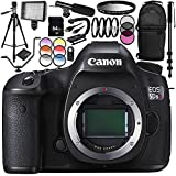 Canon EOS 5DSR DSLR Camera (Body Only) 64GB Bundle 30PC Accessory Kit Which Includes 64GB Memory Card + MORE