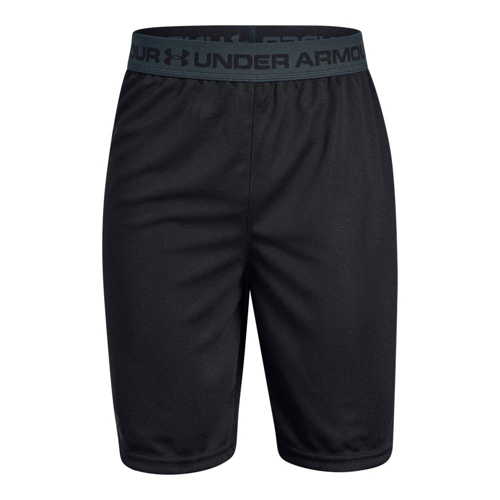 Under Armour Boys' Tech Prototype 2.0 Shorts, Black (001)/Stealth Gray, Youth X-Small