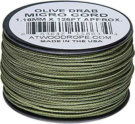 Atwood Rope MFG Micro Cord 125ft Olive Drab MS14 OD