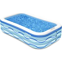 Cooyes 118 Inch Inflatable Pool for Outdoor, Garden, Summer Water Party
