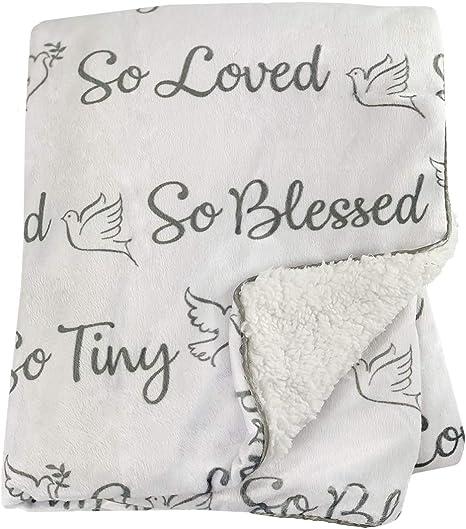 Blessed Dove Bird Design Great for Travel Cot Pram//Pushchair car seat Blissfully Soft Newborn Baby Fleece Fur Back Blankets Moses Basket