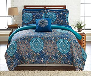 Granada Collection| 8-Piece Reversible Comforter Set, Ultra-Soft Complete Bedding Set by Amrapur Overseas