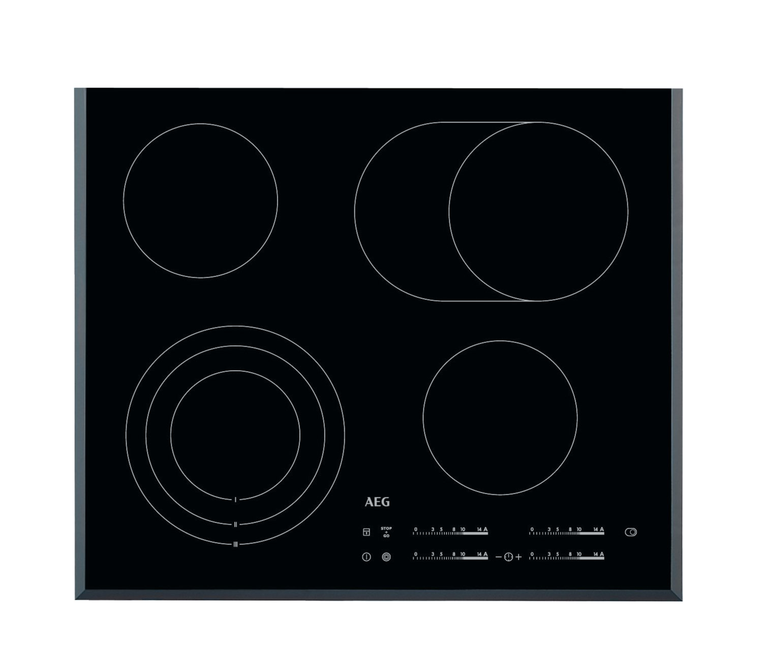 AEG HK654070FB hobs - Placa (Incorporado, Eléctrico, Cerámico, Electrónico, 1.5m, 59 cm) Negro: Amazon.es: Hogar