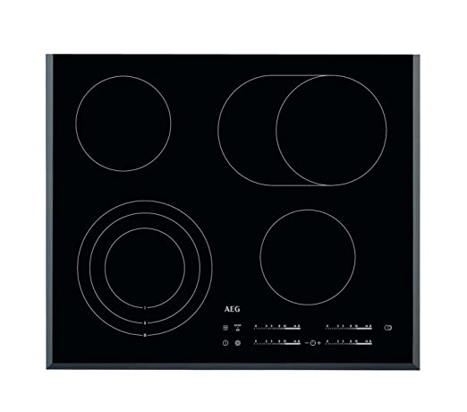 AEG HK654070FB hobs - Placa (Incorporado, Eléctrico, Cerámico, Electrónico, 1.5m, 59 cm) Negro