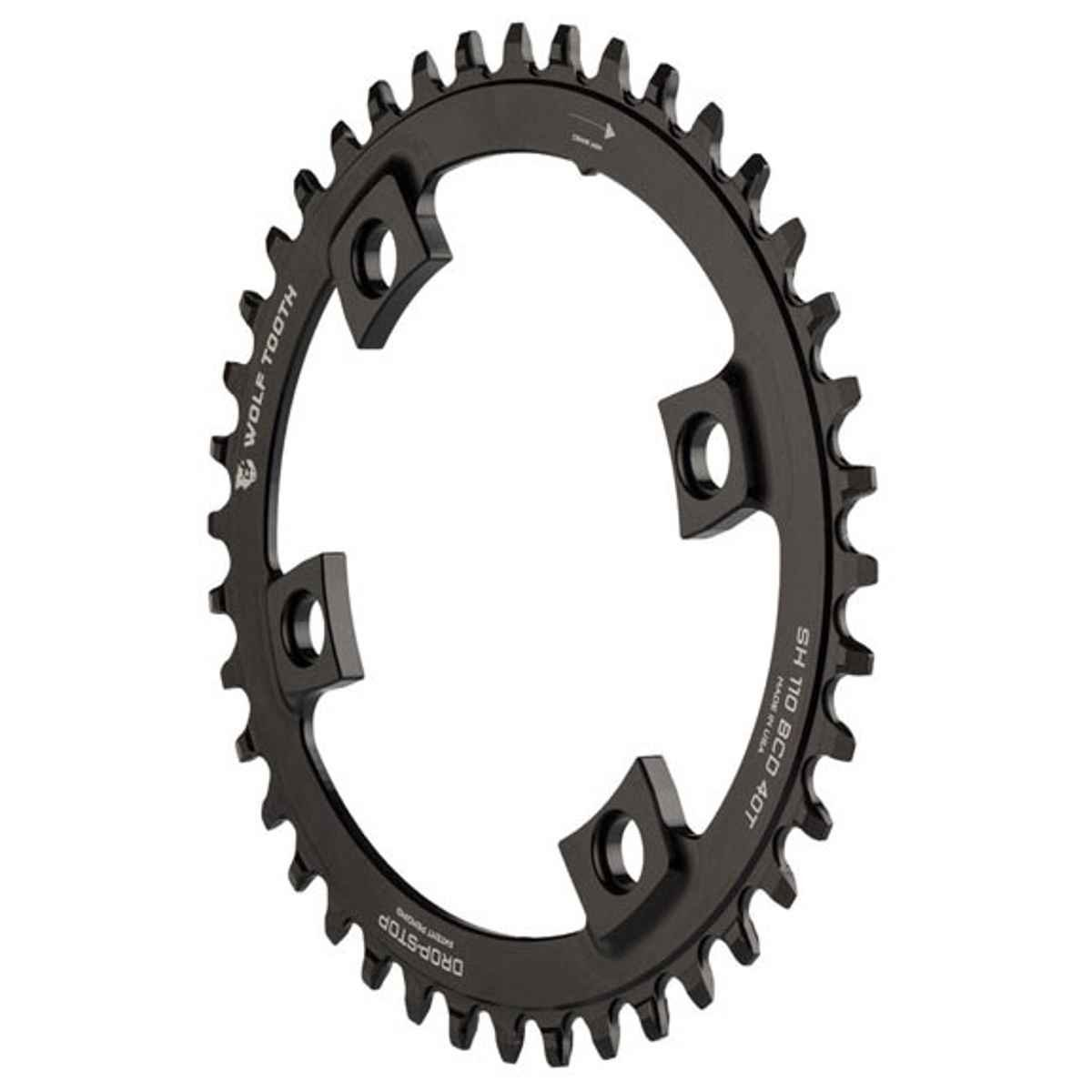 Wolf Tooth Components drop-stop Elliptical Chainring : 38t X Shimano非対称110 BCD、for Shimano非対称4-arm B01BULOKJE