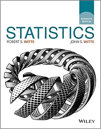 Statistics, 11th Edition 11, Robert S  Witte, John S  Witte