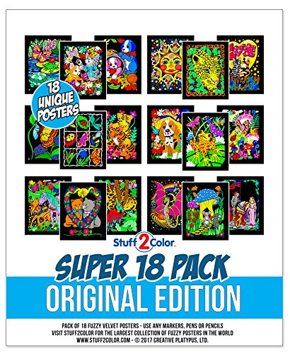 Super Pack of 18 Fuzzy Velvet Posters Original Edition