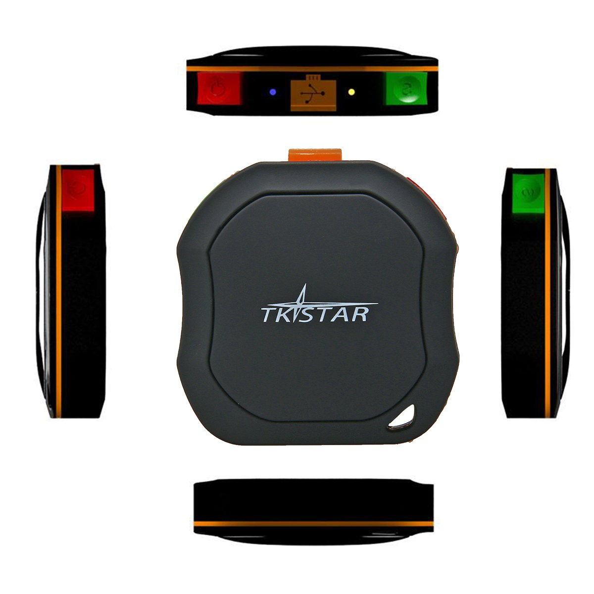 TKSTAR GPS Tracker GSM / GPS Portable Etanche IPX-6 pour voiture avec Geo-barrière / alrme d'excès de vitesse / Fonction deux appels/ Fonction SOS pour voitures / Sports d'extérieur / enfants, les personnes âgé