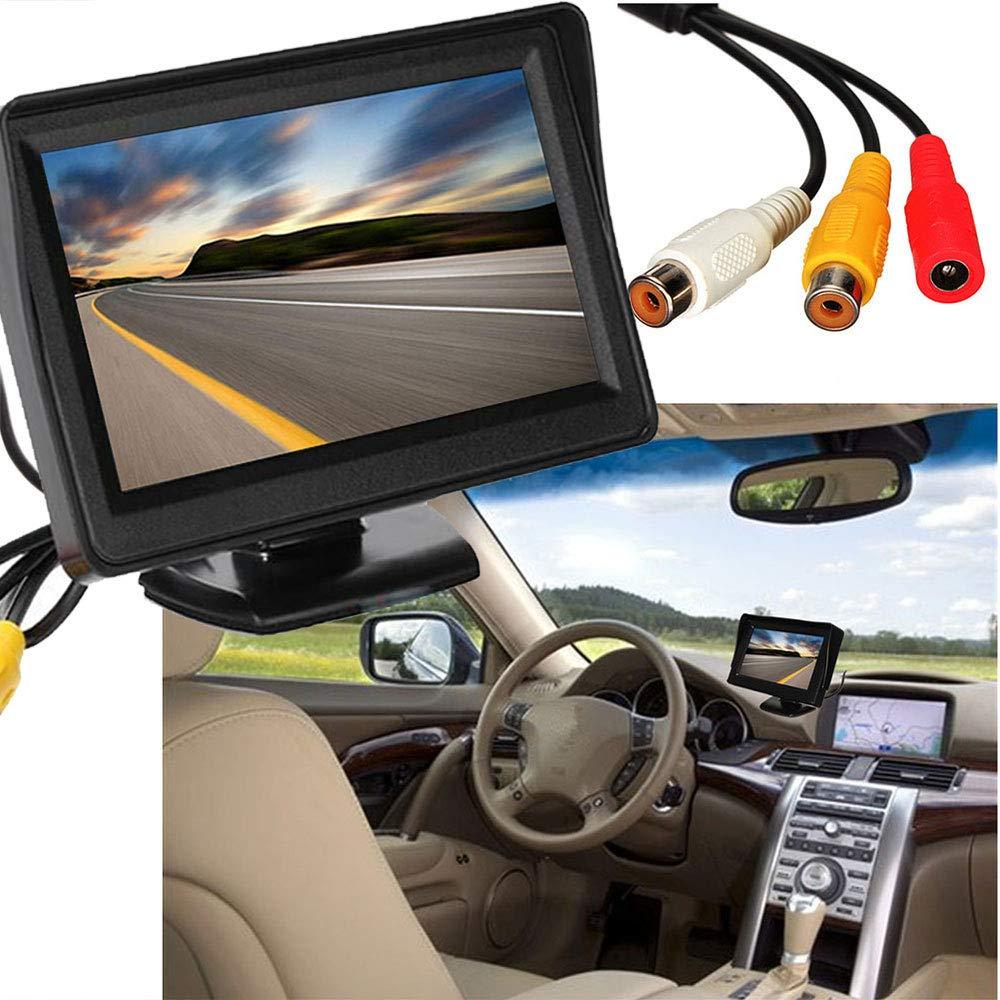 Monitor Tig LCD per Auto a Colori igital per Auto CXZX Monitor LCD 4.3 Pollici per Auto Camion o SUV,