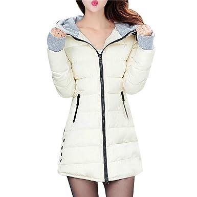 d1b280b1ee096 Lonshell Femmes Doudoune à Capuche Ultra Légère Compressible Veste Chaud  Blouson Longues Manteau Dames Ultra Légère