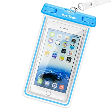 sports shoes 8e846 5f20d Waterproof iPhone 6 Case, Waterproof Pouch, Ace Teah Clear Waterproof Bag  with Touch Responsive Transparent Screen Protector for iPhone 8 7 6S 6 Plus  ...