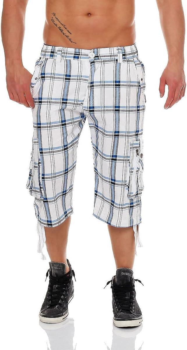 Malito 3/4 Pretina Pantalónes Shorts Uni Color RT007 Hombre
