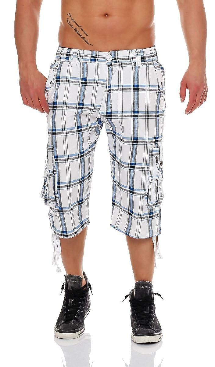 TALLA S. Malito 3/4 Pretina Pantalónes Shorts Uni Color RT007 Hombre