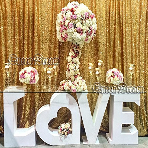 QueenDream 7ft x 7ft Gold sequin backdrop fabric Designed Party Festival Decoration gold sequin backdrop photography backdrops wedding backdrop by QueenDream