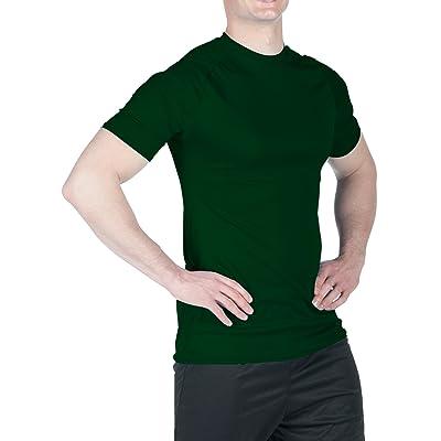 WSI Mens Microtech Short Sleeve Form Fit Shirt: Clothing
