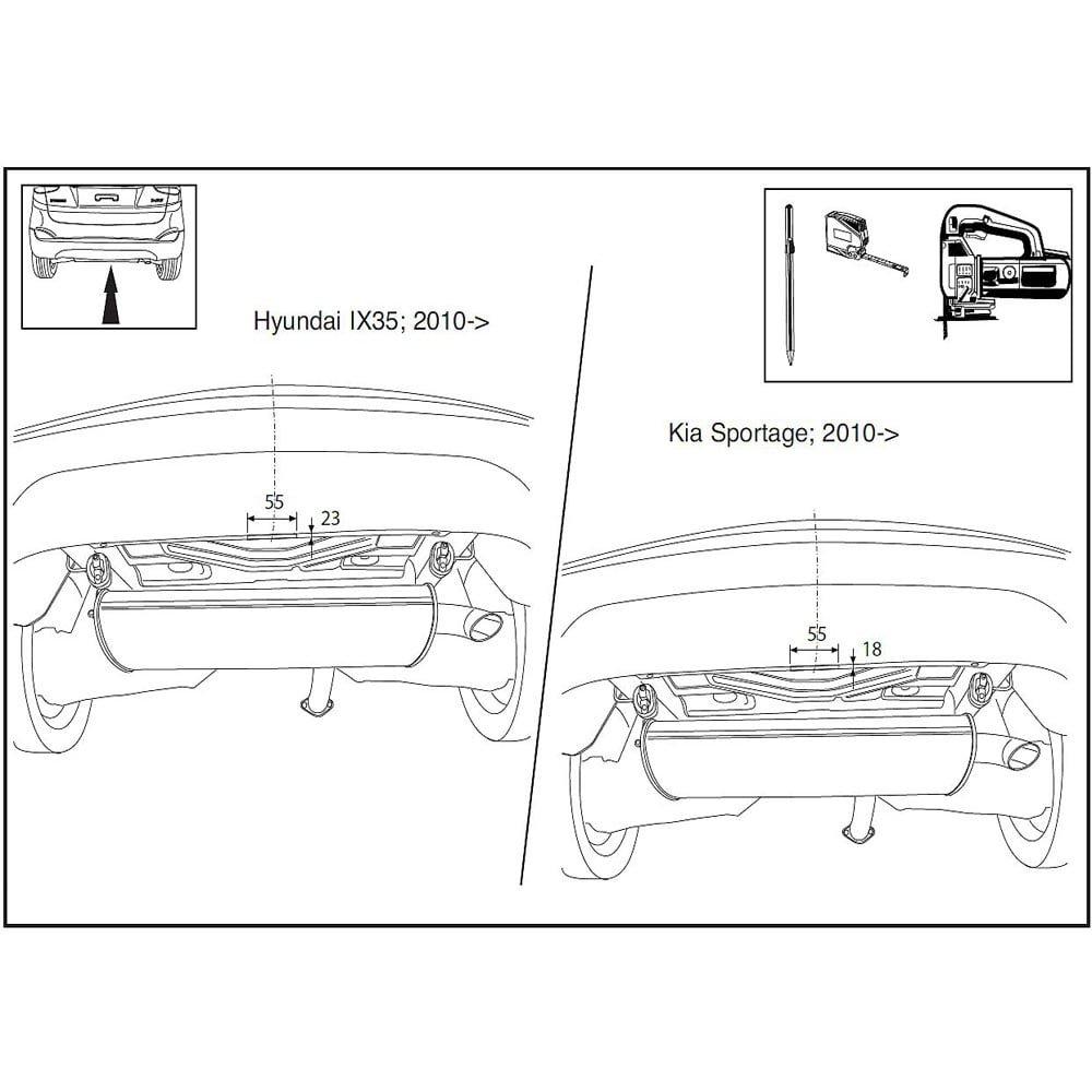 Brink 529300 Fixed Swan Neck Tow Bar Hyundai Ix35 2009 2015 Kia 2010 Sportage Engine Diagrams Car Motorbike