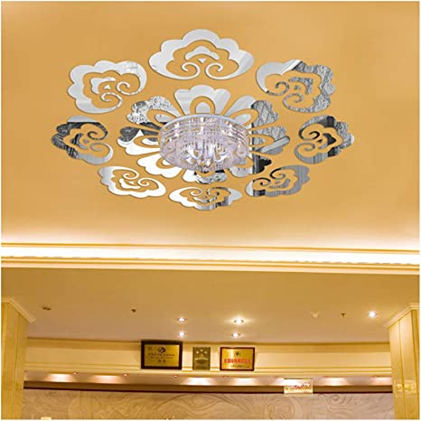 Amazon Com Creative Design Ceiling Decorative Wall Sticker Diy 3d Acrylic Mirror Effect Wall Decor Living Room Bedroom Entrance European Style Mural Decals Arts Crafts Sewing,Baby Closet Organizers Ideas