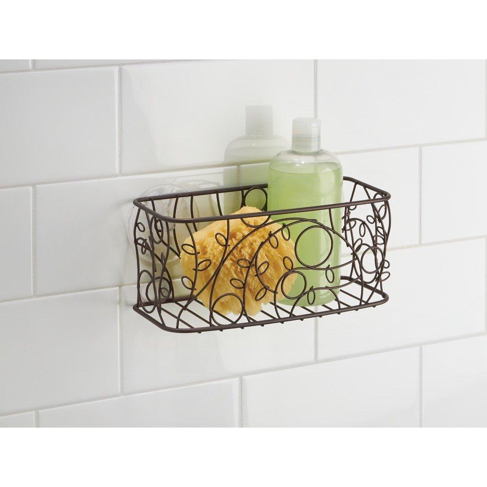 Amazon.com: InterDesign Twigz Suction Basket, Bronze: Home & Kitchen