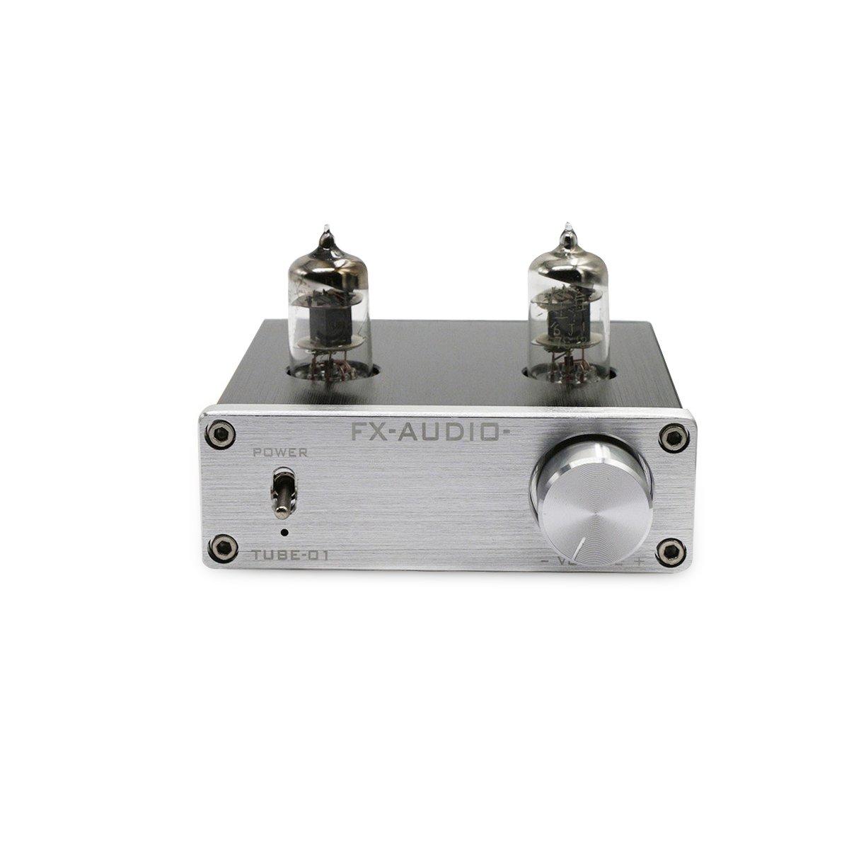 nobsound mini 6J1 tubo vuoto preamplificatore stereo HIFI Puffer preamplificatore Valve Vacuum Tube pewamplifier Preamp Buffer (argento)