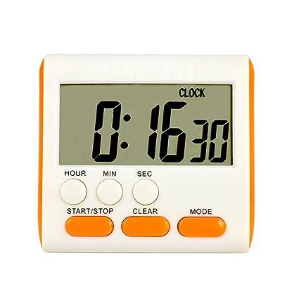 Szaerfa Magnético LCD grande cuenta hasta cocina temporizador alarma reloj digital de 24 horas (Botón