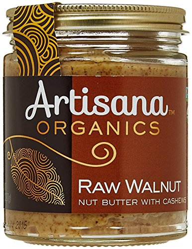 Artisana 100% Organic Raw Walnut Butter with Cashews-8 oz (Walnut Cashew)