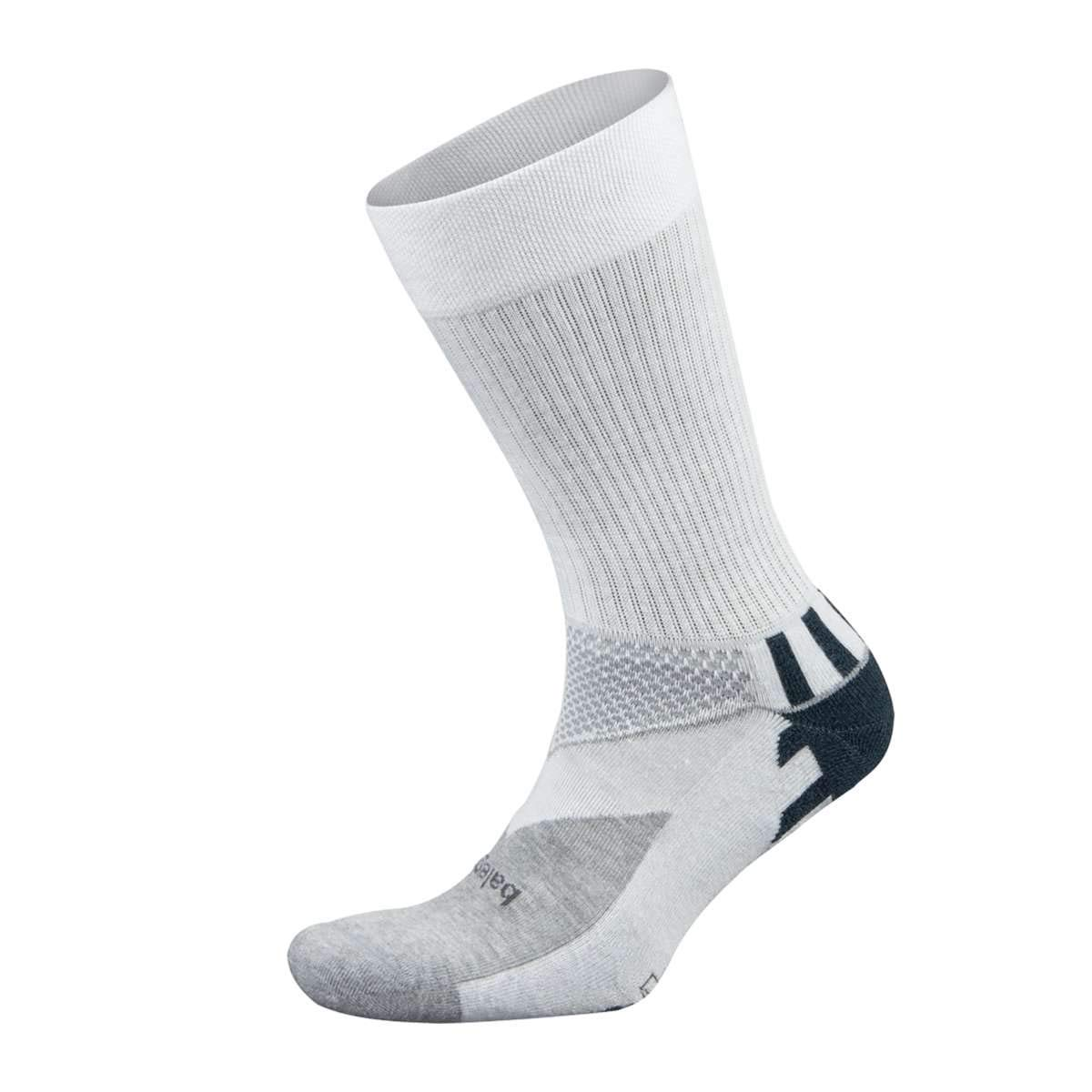 Balega Enduro V-Tech Crew Socks For Men and Women (1 Pair), White/Grey Heather, X-Large by Balega