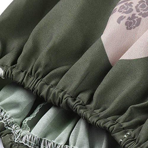 Beinhosen Gedruckte Hose Hosen Sporthose Hose Mode breite Hip Lang lose Tasche Yogahosen Shopaholic0709 Gummiband Frauen Armee grün Hop Hosen Damen IpwSqRPq