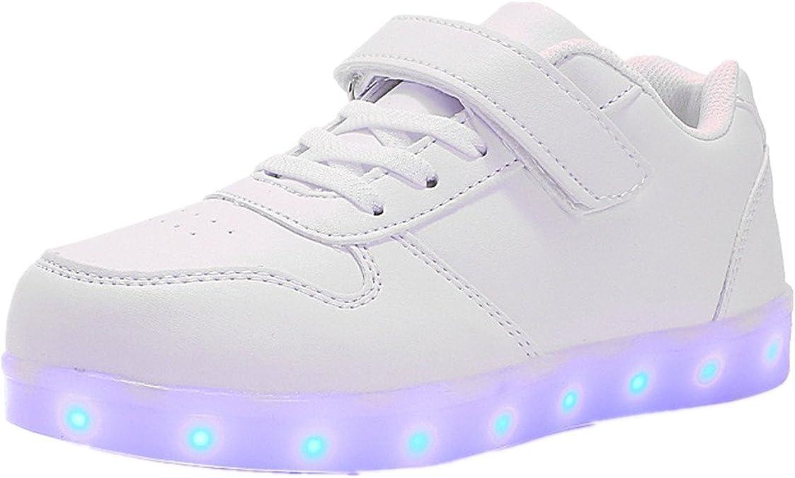edv0d2v266 Led Children Shoes USB Charging with Light Up Kids Casual Boys/&Girls Luminous Sneakers