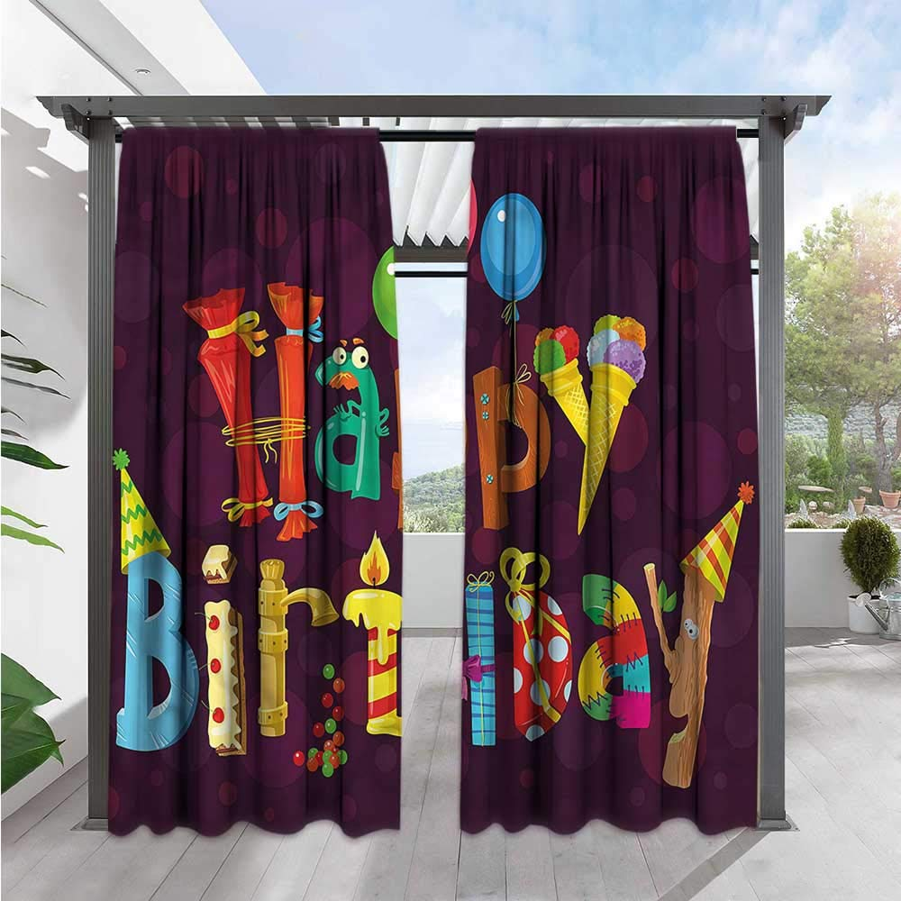 Letter Made Out Of Objects.Amazon Com Marilds Birthday Custom Curtain Party Objects As