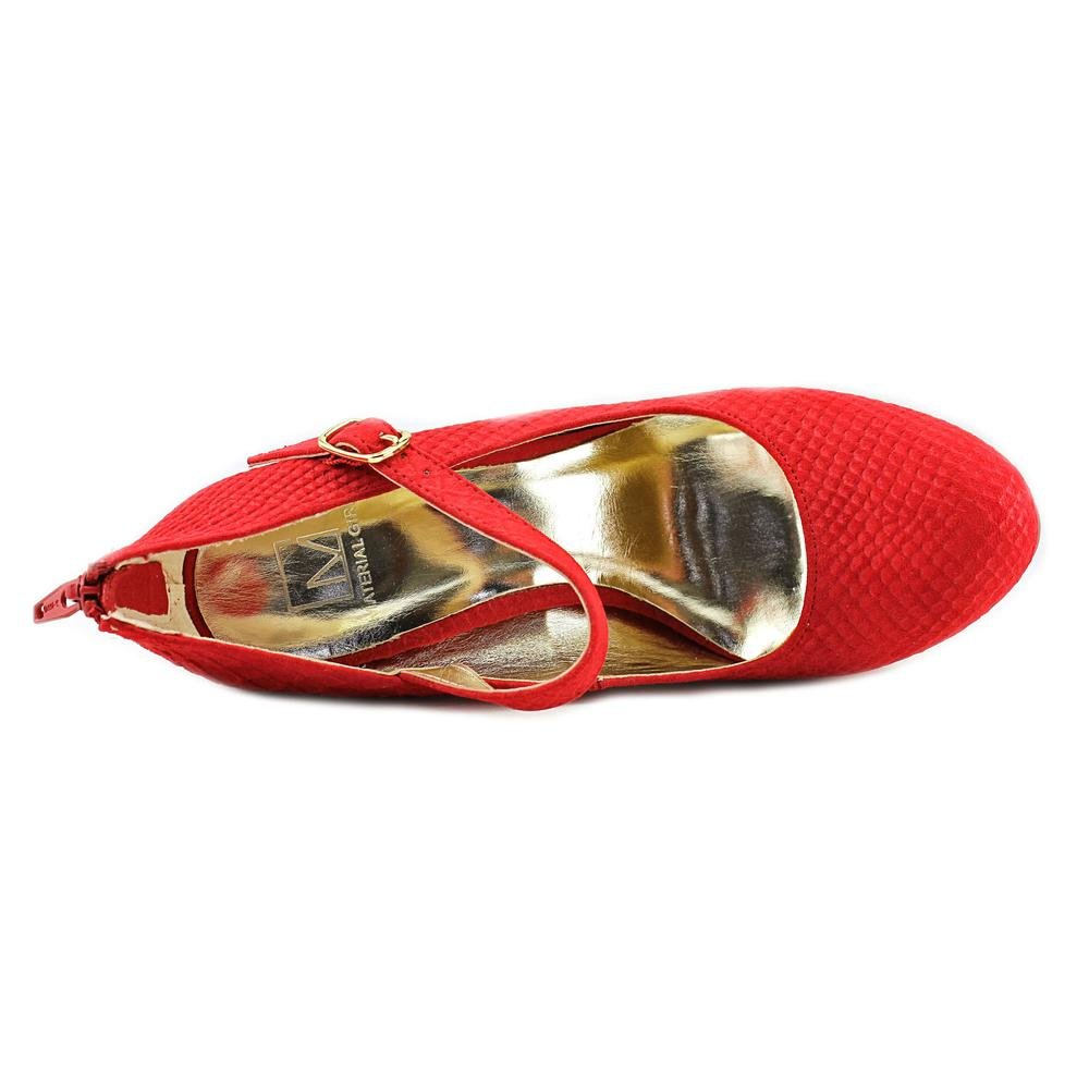 Size 8.0 Red Snake Material Girl Womens Koko Closed Toe Mary Jane Pumps