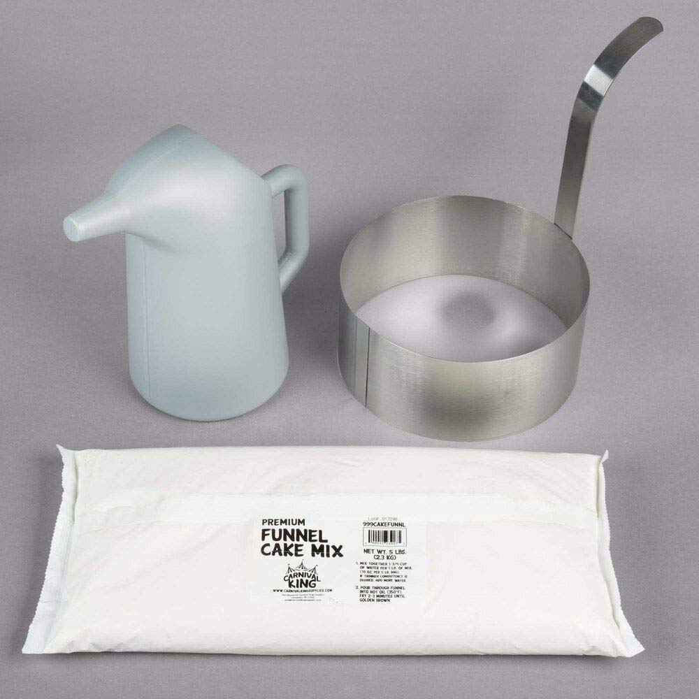 Funnel Cake Kit with 8'' Ring Mold, Pitcher, and Funnel Cake Mix By LOWPRICESUPPLY