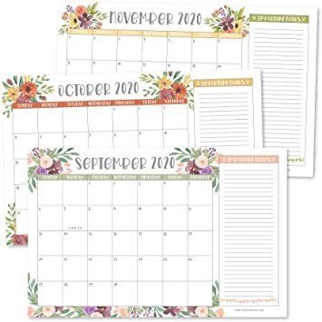 Amazon Com Floral 2020 Large Monthly Desk Or Wall Calendar Planner Big Giant Planning Blotter Pad 18 Month Academic Desktop Hanging 2 Year Date Notepad Teacher Mom Family Home Business Office 11x17 Office Products