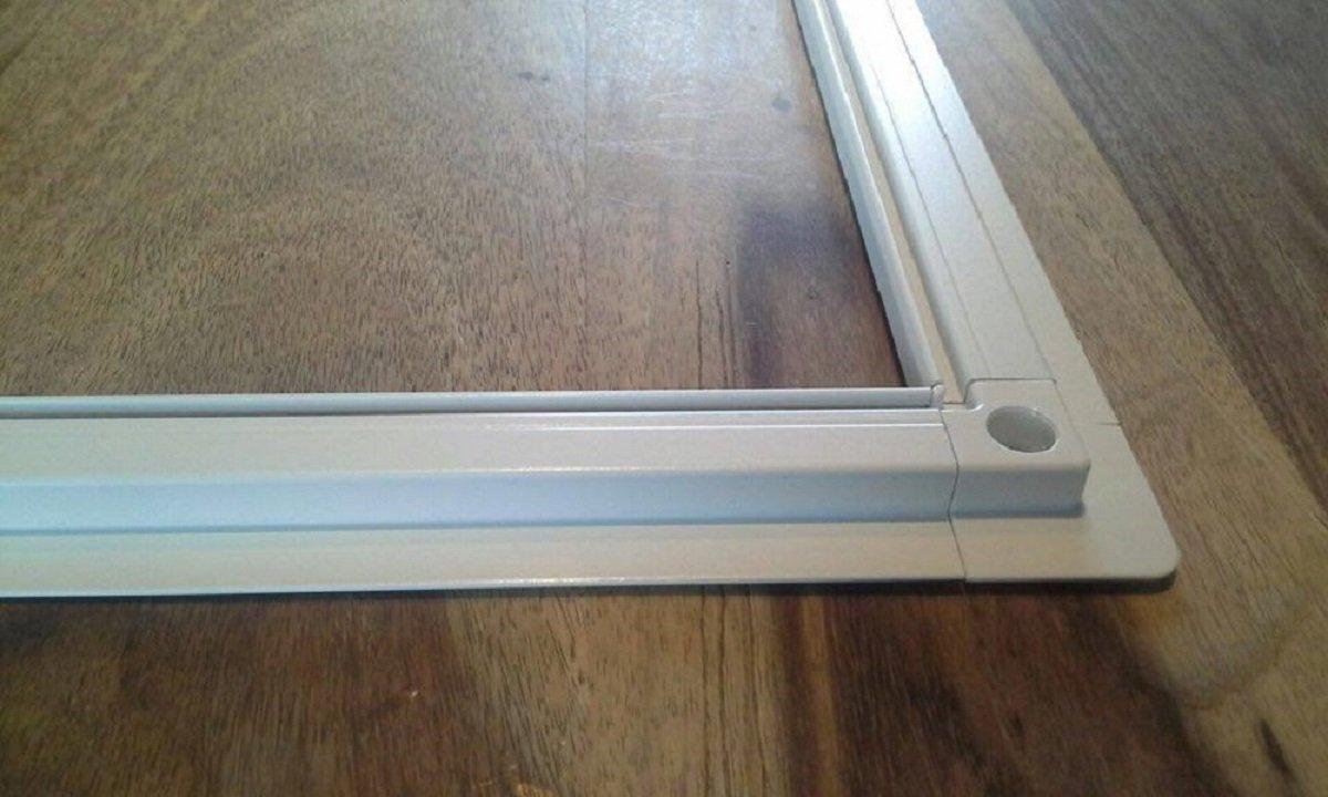 M/ücken Alu Weiss optimal f/ür Roll/äden Fliegengitter Insektenschutz Fenster 80cm x 100cm, 25mm Einh/ängewinkel