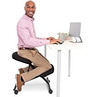 ProErgo Pneumatic Ergonomic Kneeling Chair | New & Improved! | Fully Adjustable Mobile Office Seating | Improve Posture…