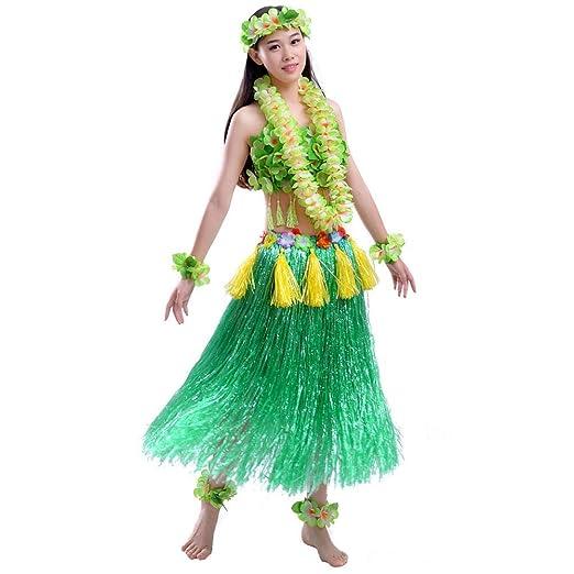 Adulto hawaiano Hula Dancer hierba falda traje conjunto ...