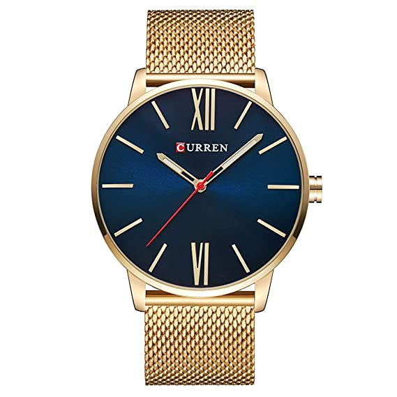 Curren Men Watches Top Brand Ultra thin Dial Luxury Quartz Men Watch Waterproof Casual Sport (