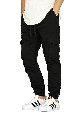 ead5d68259be5e URBANJ Men's Black Cargo Twill Jogger Pants at Amazon Men's Clothing ...