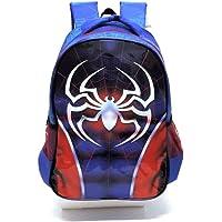 Mochila Infantil Homem Aranha Costas Grande Super Spider Azul