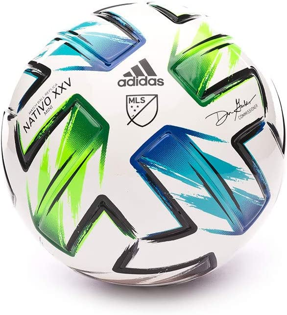 adidas Mini MLS 2019-2020, Balón, White-Samba Blue-Solar Green ...