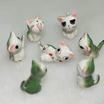 Samson chino cerámica gatos patrón palillos resto cuchara tenedor cuchillo soporte accesorio de práctica artículos de tapicería (7 gatos): Amazon.es: Hogar