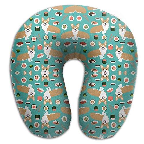 Welsh Corgi Head (Corgi With Sushi U Shape Neck Pillow Support Head Working Neck Pillow)