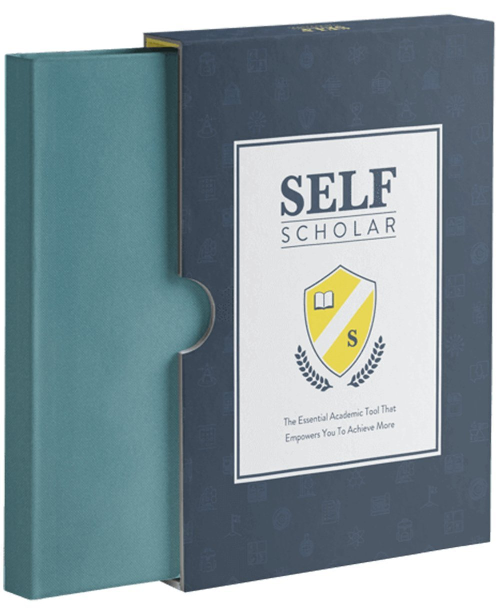 "Academic Journal - The BestSelf Co. Self Scholar (8.25"" X 5.5"") - Start Every Semester Organized - an Academic Set of Daily, Weekly and Monthly Goals - Three Spot-Saving Ribbons"