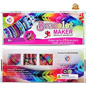 Christmas Deal - Arts and Crafts for Girls - Best Birthday Toys/DIY for  Kids - Premium Bracelet (Jewelry) Making Kit - Friendship Bracelets