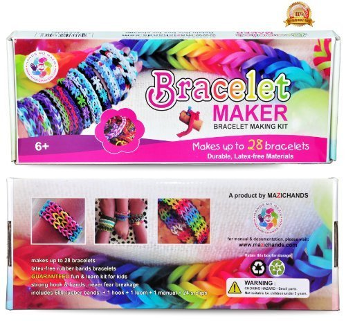 New Year Deal - Arts and Crafts for Girls - Best Birthday Toys/DIY for Kids - Premium Bracelet (Jewelry) Making Kit - Friendship Bracelets Maker/Craft Kits with Loom, Rubber Bands