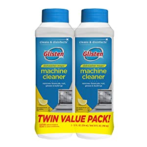 Summit Brands DM03N-SS Glisten Dishwasher Magic, Cleaner and Disinfectant, 12 Fl Oz, 2-Pack,